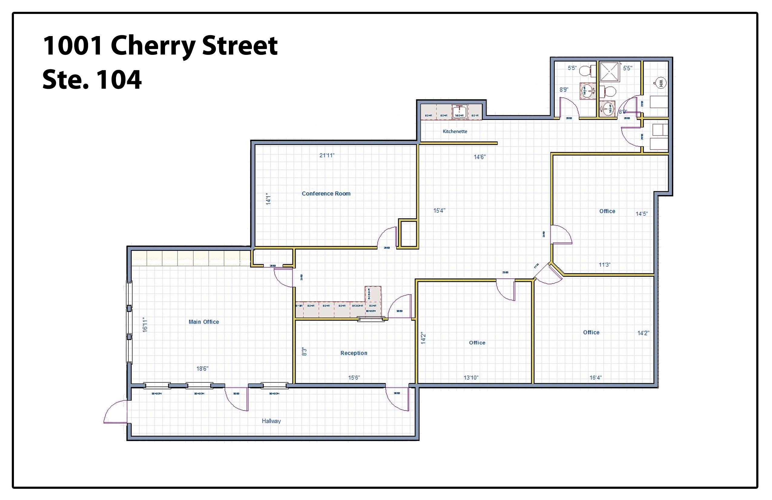 1001 Cherry Street- Suite 104