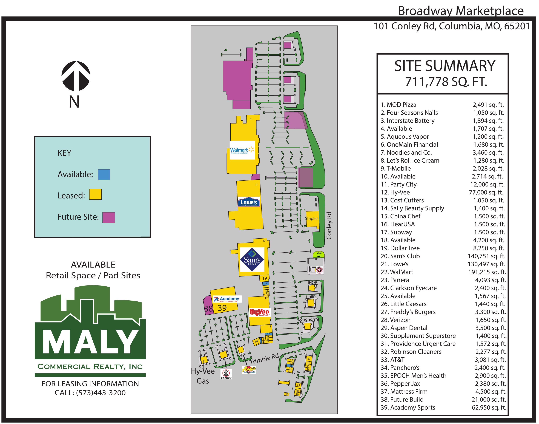 Broadway MarketPlace- .44 Acre Pad Site