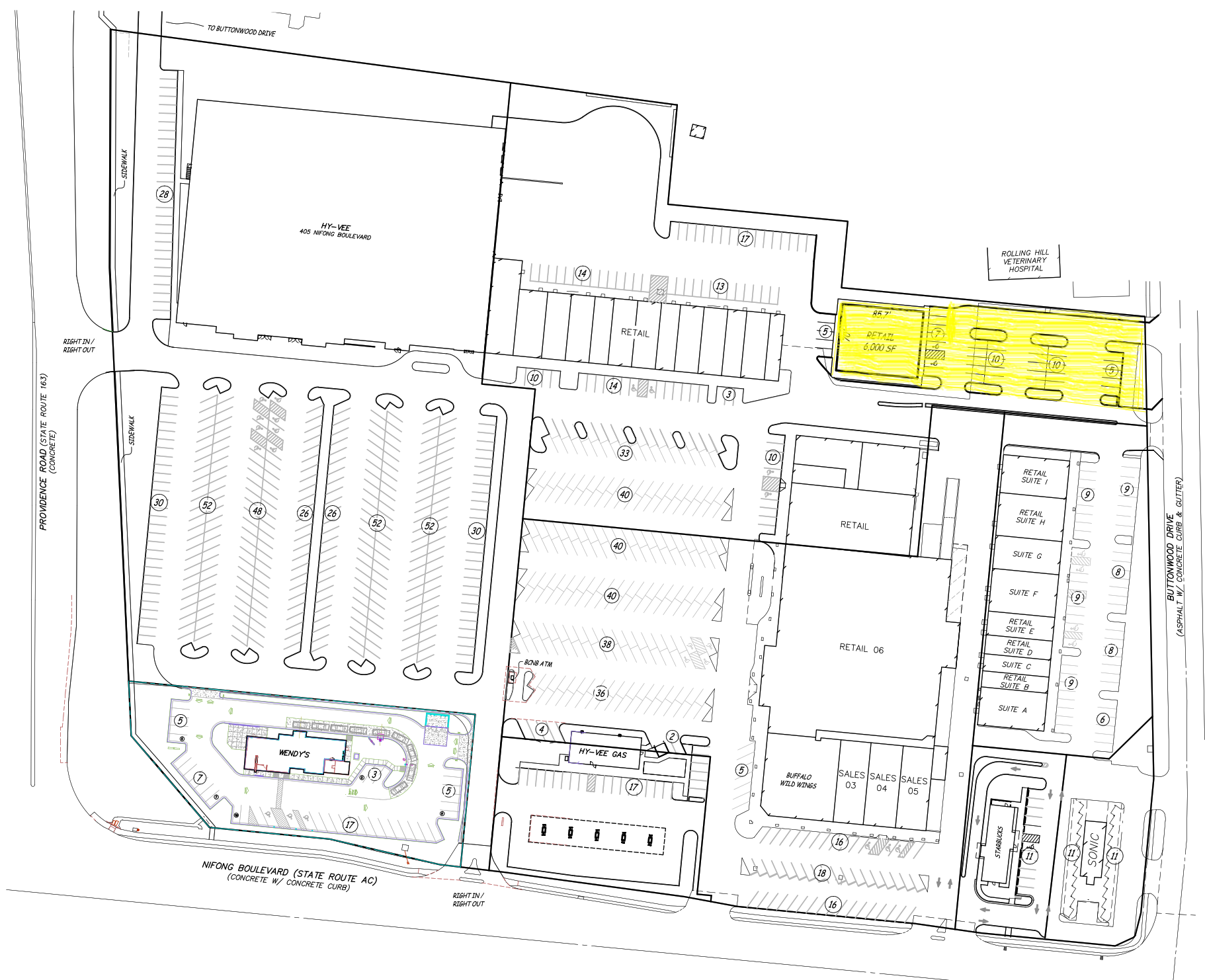 Rock Bridge Shopping Center-6000 SF Future Build