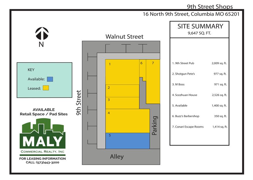 16 North 9th St – 9th Street Shops, Unit 5