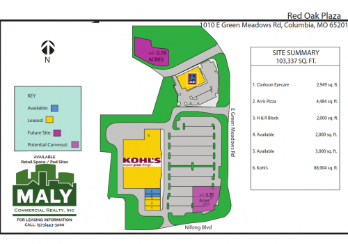 Red Oak Plaza- .78 Acre Pad Site